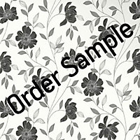 Sample Superfresco Textured Camille Wallpaper - Black and White