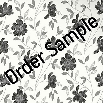 Image for Sample Superfresco Textured Camille Wallpaper - Black and White from StoreName
