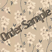 Sample Superfresco Mia Wallpaper - Taupe and Charcoal