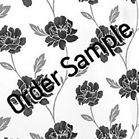 Sample Superfresco Textured Peony Wallpaper - Black and White