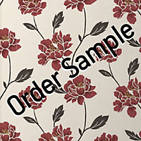 Sample Superfresco Textured Peony Wallpaper - Ruby