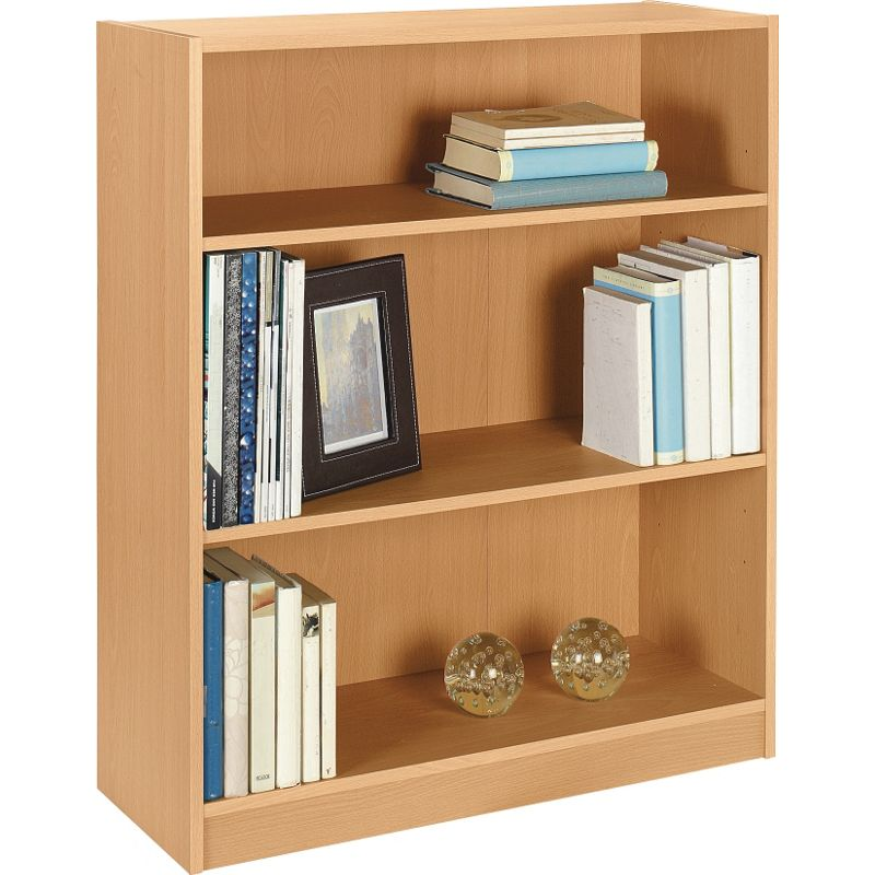 Maine small extra deep bookcase beech effect How deep should a bookshelf be
