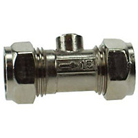 Isolation Valve Compression Fitting - Chrome - 15mm - 5 Pack