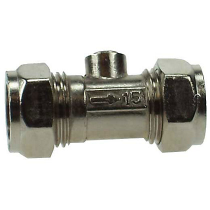 Image for Isolation Valve Compression Fitting - Chrome - 15mm - 5 Pack from StoreName
