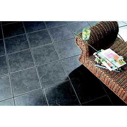 Cuba Dark Grey Floor Tiles 330 X 330mm 9 Pack