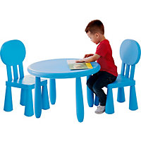 Funky Plastic Chair and Table - Blue.