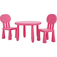 Funky Plastic Chair and Table - Pink.