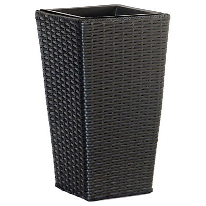 Image for Wicker Effect Tall Planter - 25cm from StoreName