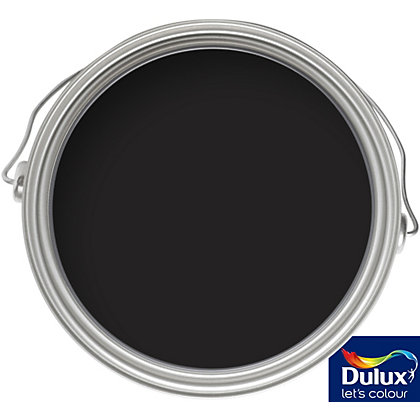 Image for Dulux Once Black - Satinwood Paint - 750ml from StoreName
