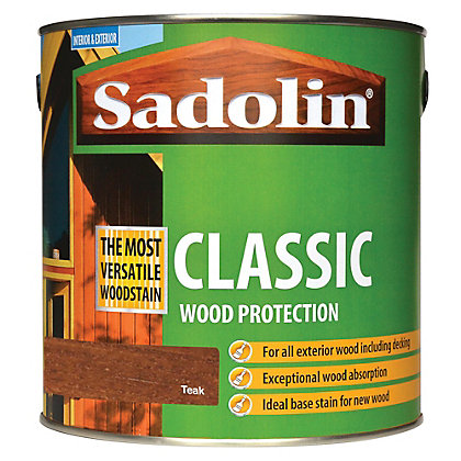 Image for Sadolin Classic Woodstain - Teak - 2.5L from StoreName