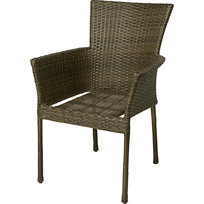 Image for Mali Rattan Effect Stacking Chair from StoreName