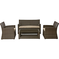 Mali Rattan Effect Garden Sofa Set