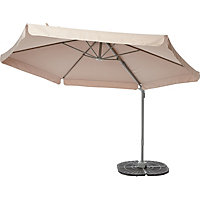 Overhanging Pivot Parasol in Cream - 3M