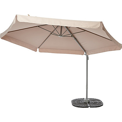 Image for Overhanging Pivot Parasol in Cream - 3M from StoreName