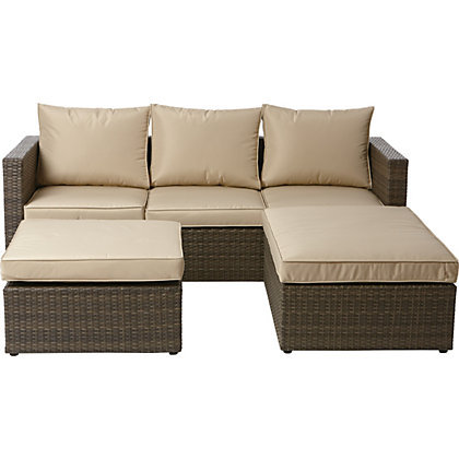 Image for Mali Garden Corner Sofa - Home Delivery from StoreName