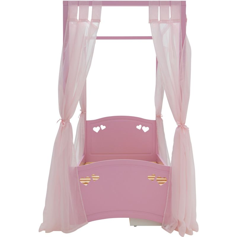 Mia Four Poster Single Pink Bed Frame