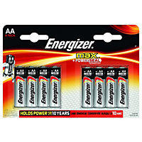 Energizer Max Alkaline Batteries - AA - 8 Pack