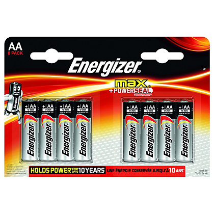 Image for Energizer Max Alkaline Batteries - AA - 8 Pack from StoreName
