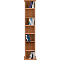 Maine DVD and CD Media Storage Tower - Oak Effect.