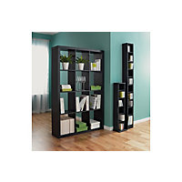 Maine DVD and CD Media Storage Tower - Black Ash Effect.