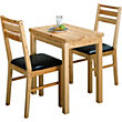 Solid Pine Extendable Dining Table and 2 Chairs.