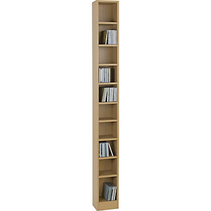 Maine Tall Dvd And Cd Media Storage Tower Beech Effect