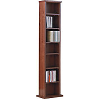 Maine DVD and CD Media Storage Tower - Walnut Effect.