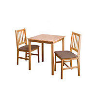 Kendall Dining Table and 2 Upholstered Chairs