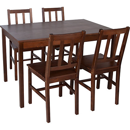 tables chairs dining sets richmond solid dark pine table and 4