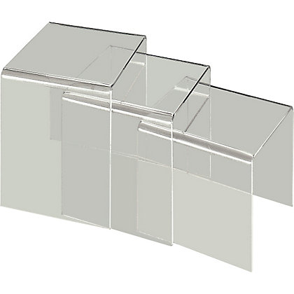 Hygena Mistral Nest Of Tables Clear Acrylic