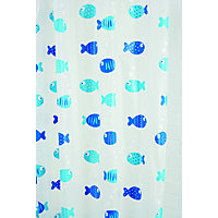 Wiggly Fish Anti-Mould Vinyl Shower Curtain