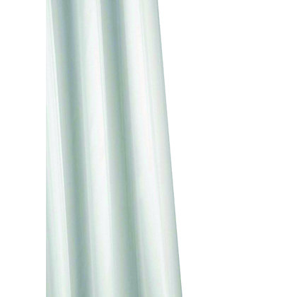 Image for Plain White Anti-Mould Textile Shower Curtain from StoreName