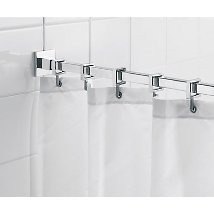 Image for Square Shower Curtain Rod and Ring Set from StoreName