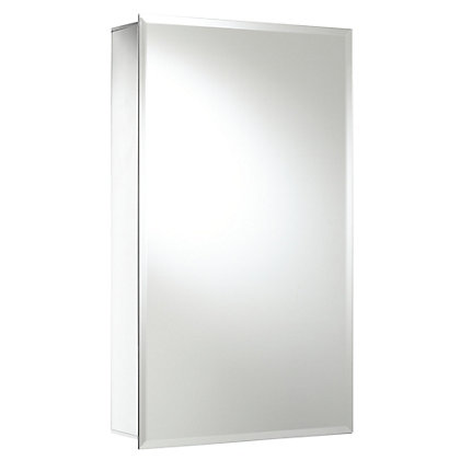 Image for Single Door Bathroom Cabinet - Aluminium from StoreName
