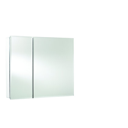 Image for Double Door Bi-View Bathroom Cabinet - Aluminium from StoreName