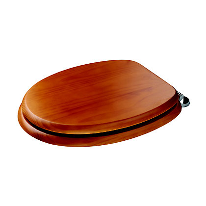 Image for Douglas Sit Tight Toilet Seat Antique Pine Finish from StoreName