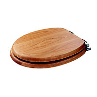 Bloomfield Sit Tight Solid Oak Soft Close Toilet Seat