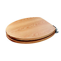 Fitzroy Sit Tight Solid Oak Soft Close Toilet Seat
