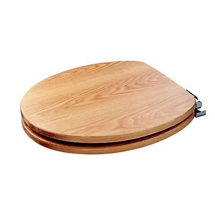 Image for Fitzroy Sit Tight Solid Oak Soft Close Toilet Seat from StoreName