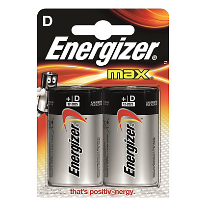 Image for Energizer Max Alkaline D Battery - 2 Pack from StoreName