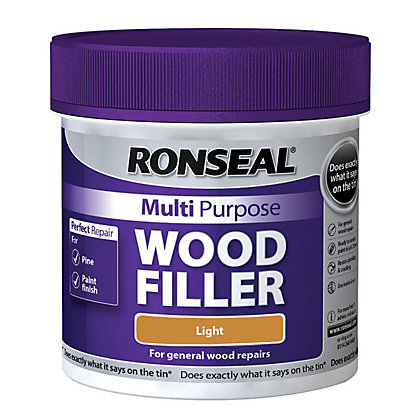 Image for Ronseal Multipurpose Wood Filler Tub - Light - 465g from StoreName