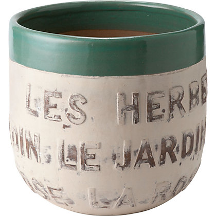 Image for Le Jardin White Garden Planter - 29cm from StoreName