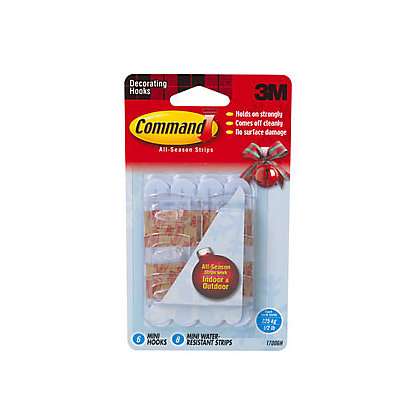 Command Self Adhesive Outdoor Hook Mini 6 Pack