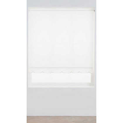 Image for Homebase White Scallop Roller Blind - 90cm from StoreName