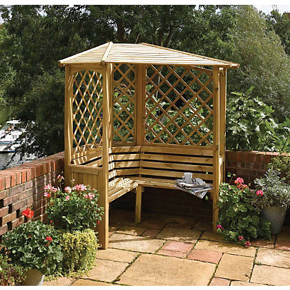 Image for Rowlinson Balmoral Corner Arbour - 6ft 11in x 7ft 2in from StoreName