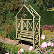 Rowlinson Rustic Garden Seat - 54ft 11in x 7ft 6in