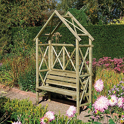 Image for Rowlinson Rustic Garden Seat - 54ft 11in x 7ft 6in from StoreName