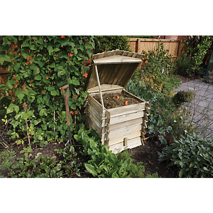 Image for Rowlinson Wooden Beehive Composter from StoreName