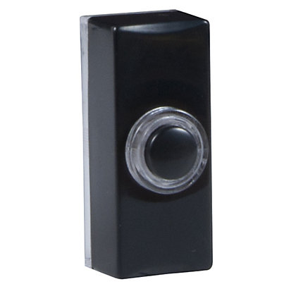 Image for Byron 7720 Wired Lighted Push - Black from StoreName