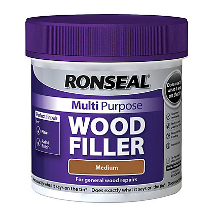 Image for Ronseal Multipurpose Wood Filler Tub - Medium - 465g from StoreName